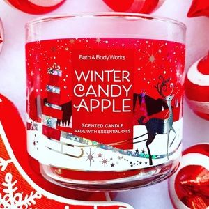 BBW Winter Candy Apple Candle